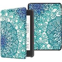 Fintie SlimShell Funda para Kindle Paperwhite (10.ª generación, 2018) - Carcasa Fina y Ligera de Cuero Sintético con Función de Auto-Reposo/Activación, Esmeralda