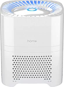 hOmeLabs 3-in-1 Compact Ionic HEPA Air Purifier - Quietly Ionizes and Purifies Air to Reduce Odor and Allergies from Mold, Smoke, Dust, Pollen and Pet Dander, White (Renewed)