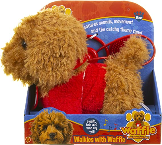 Waffle the Wonder Dog Walkies with Waffle Soft Toy Age 18 Months Up Remote Control Dog Cbeebies Super Cute and Cuddly