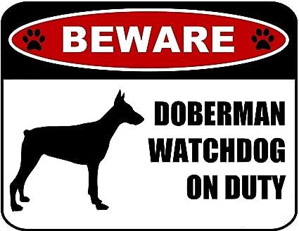 Amazon.com: pcscp cuidado con Doberman Watchdog de servicio ...