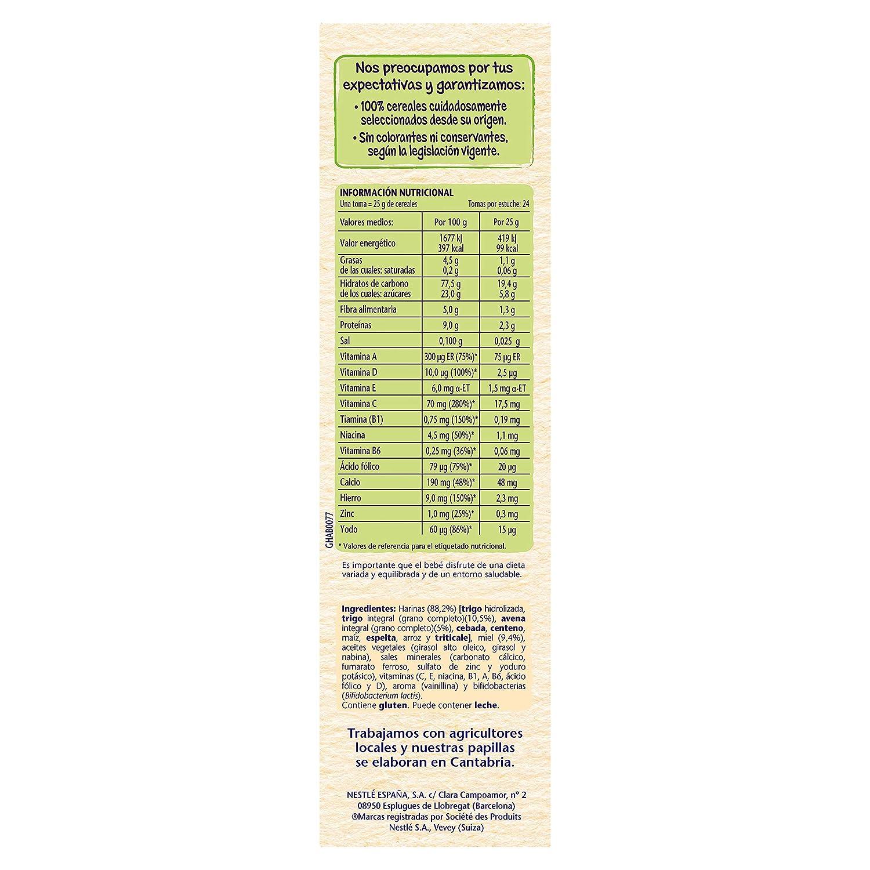 Nestlé Papilla 8 cereales con Miel - Alimento Para bebés - Paquete ...
