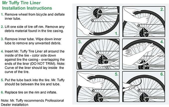 Mr. Tuffy - Forro para neumáticos de Bicicleta, Color Dorado ...