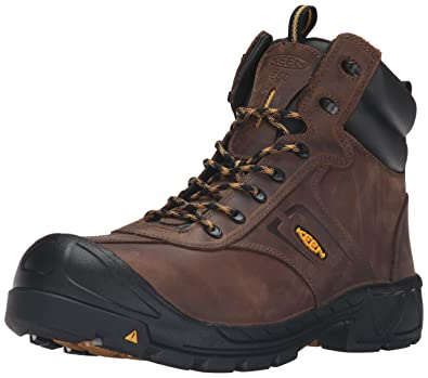 KEEN Utility Men's Warren ESD Work Boot, Dark Earth, ...