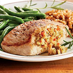 Boneless Stuffed Pork Chops, 4 8 oz. Pieces from The Swiss Colony