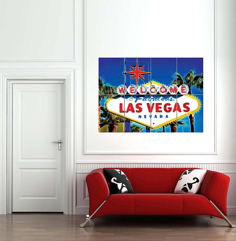 Amazon.com: Welcome Las Vegas signo gigante Pared Arte ...