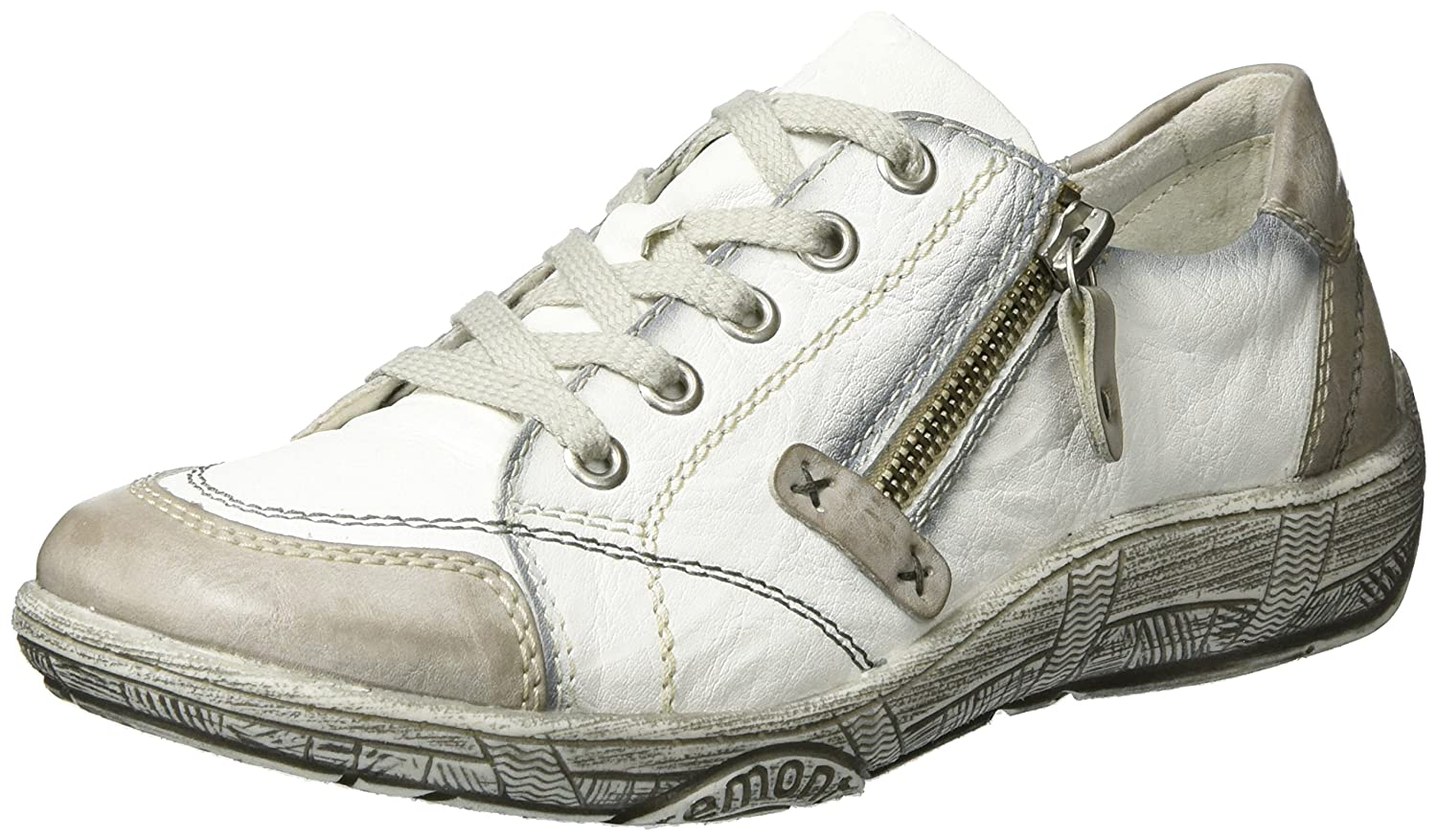 Remonte Blanc D3808, Derby Femme, Adria/Weiss Blanc Derby (Ice/Weiss 15699/Bianco/80) 3a918cd - reprogrammed.space