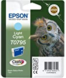 Epson Original T0795  Light Cyan Ink cartrdge for Stylus Photo 1400 (Owl)