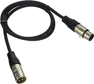 Rapco Horizon N1M1-3 Stage Series M1 Microphone Cable Neutrik Connectors 3-Feet