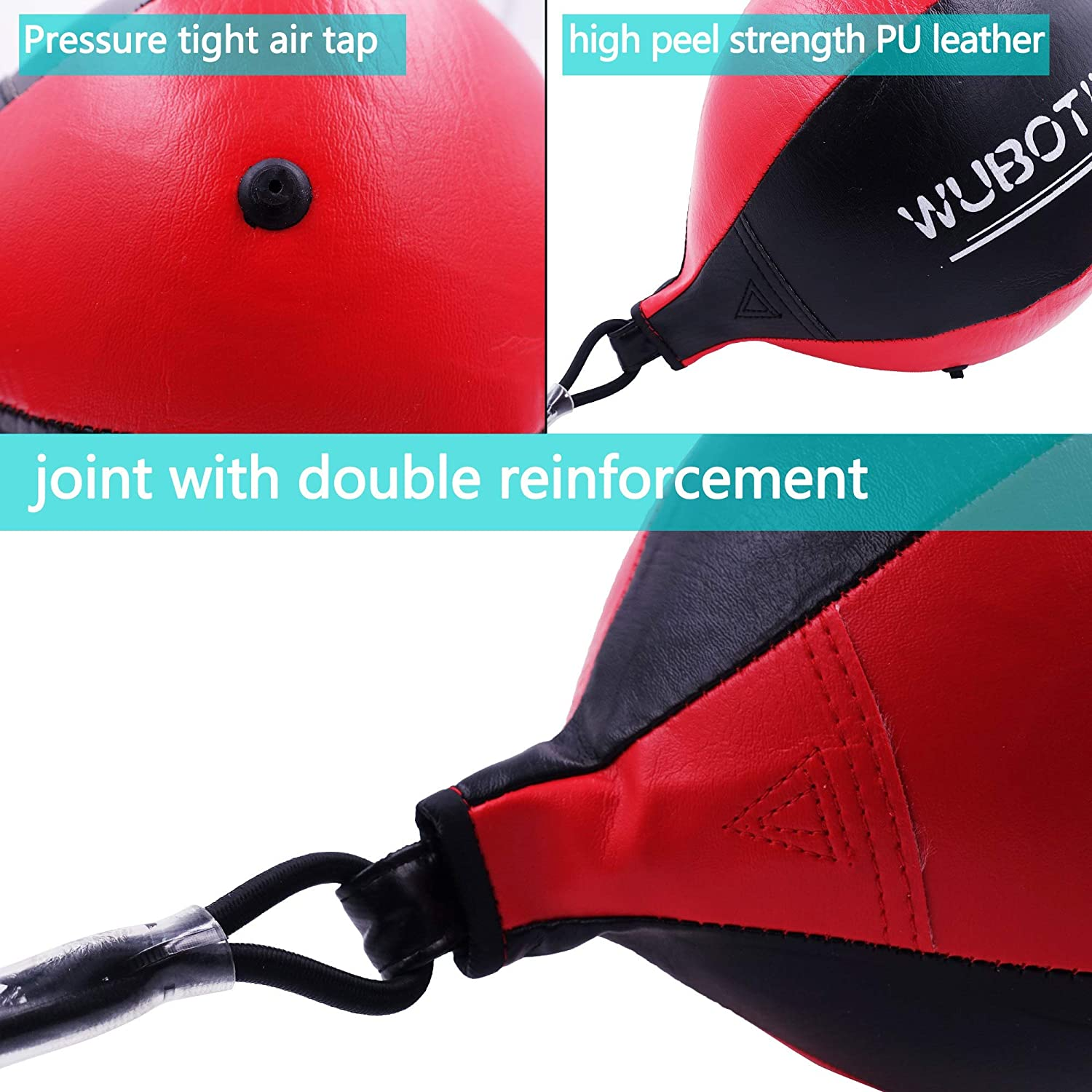 Boxing Speed Ball /& Inflator Gourd Hook Pear Double End Boxing Ball Punching Bag