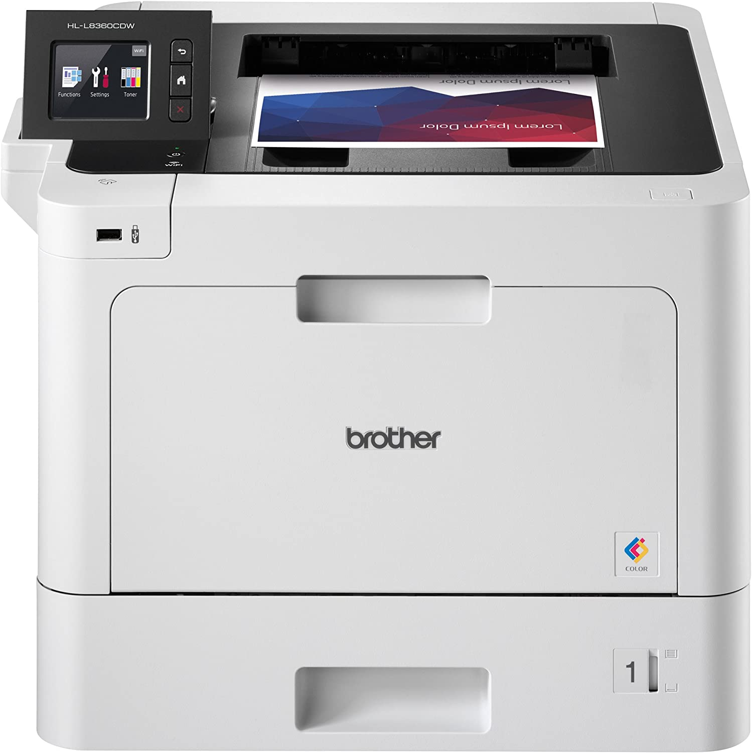 Brother Business Color Laser Printer, HL-L8360CDW, Wireless Networking, Automatic Duplex Printing, Mobile Printing, Cloud printing,  Dash Replenishment Ready: Office Products