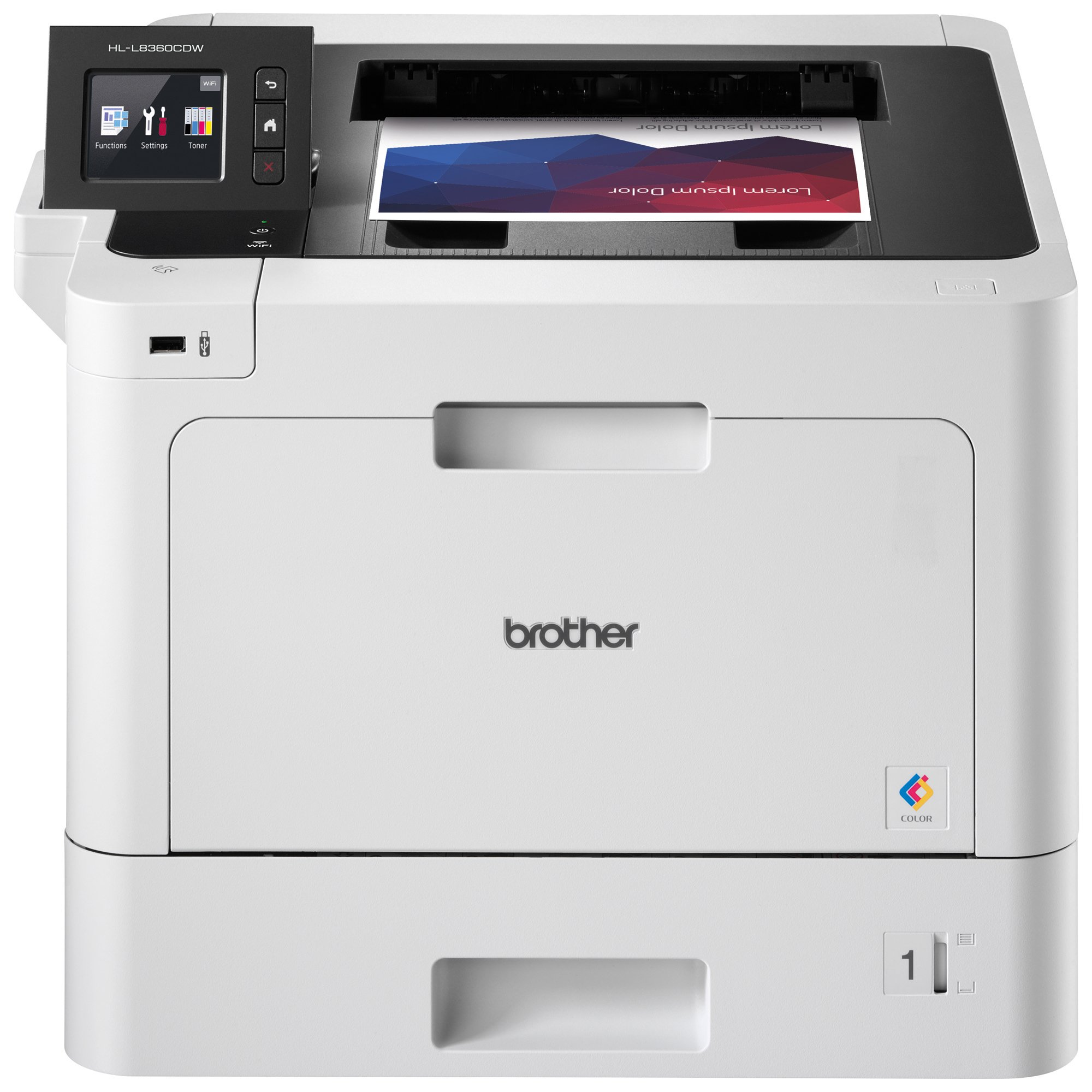 Brother Printer HLL8360CDW Business Color Laser Printer with Duplex Printing and Wireless Networking,  Amazon Dash Replenishment Enabled