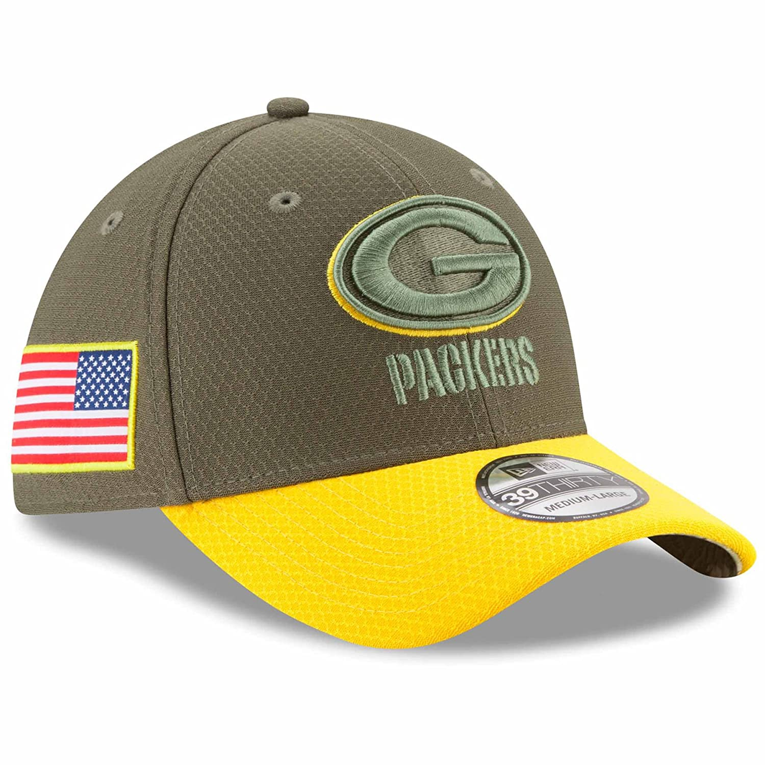 29fb0c792ce22 Green Bay Packers New Era NFL 39THIRTY 2017 Sideline