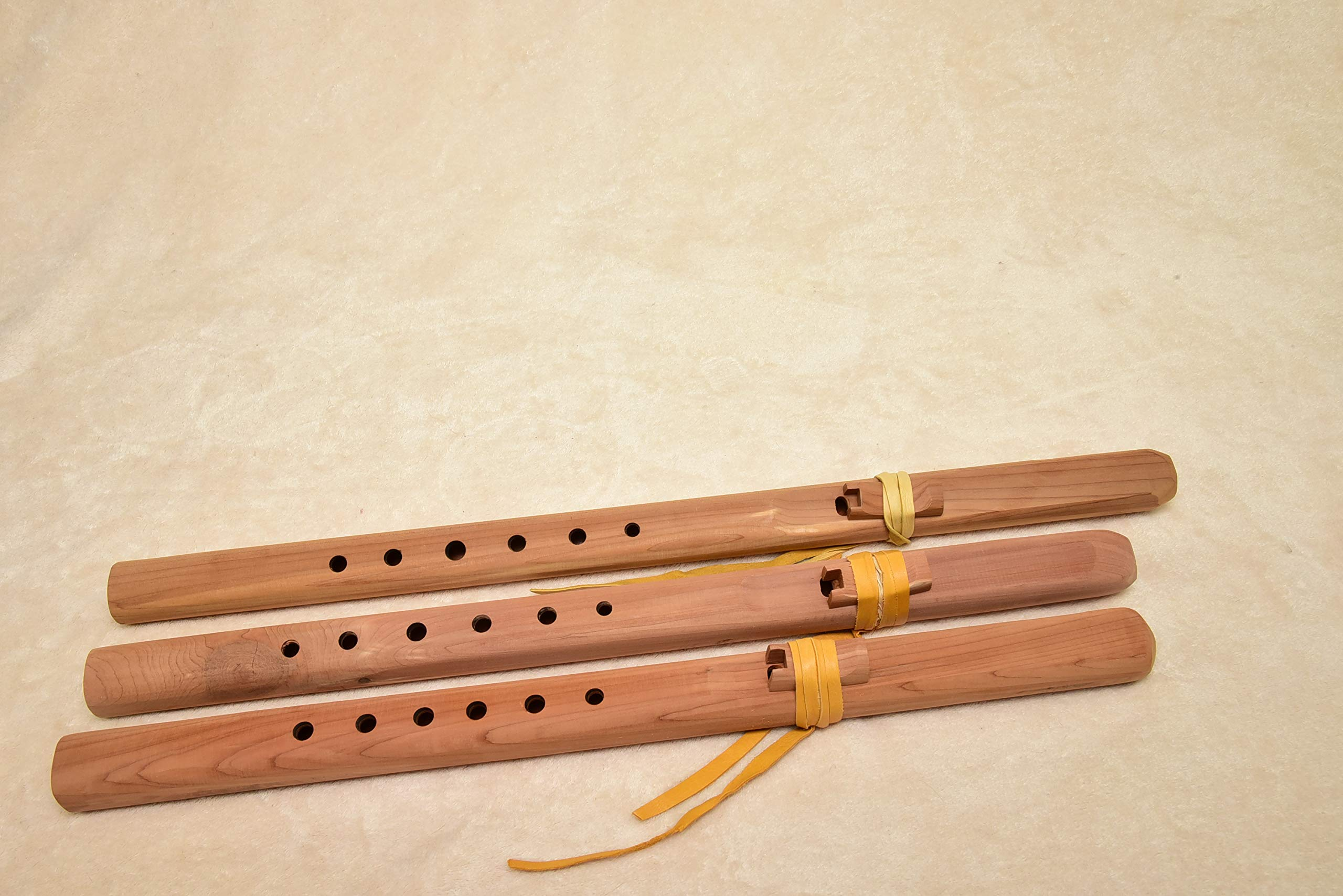 Windpony Unfinished Cedar Flute set - A, G and F#