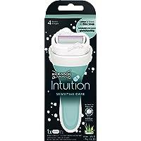 Wilkinson Sword Intuition Sensitive - Maquinilla de Afeitar de Mujer Recargable con Jabón Hidratante y 4 Hojas…