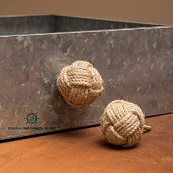 FREE SHIPPING Pipe Rope Knob Rustic Industrial Drawer Pull