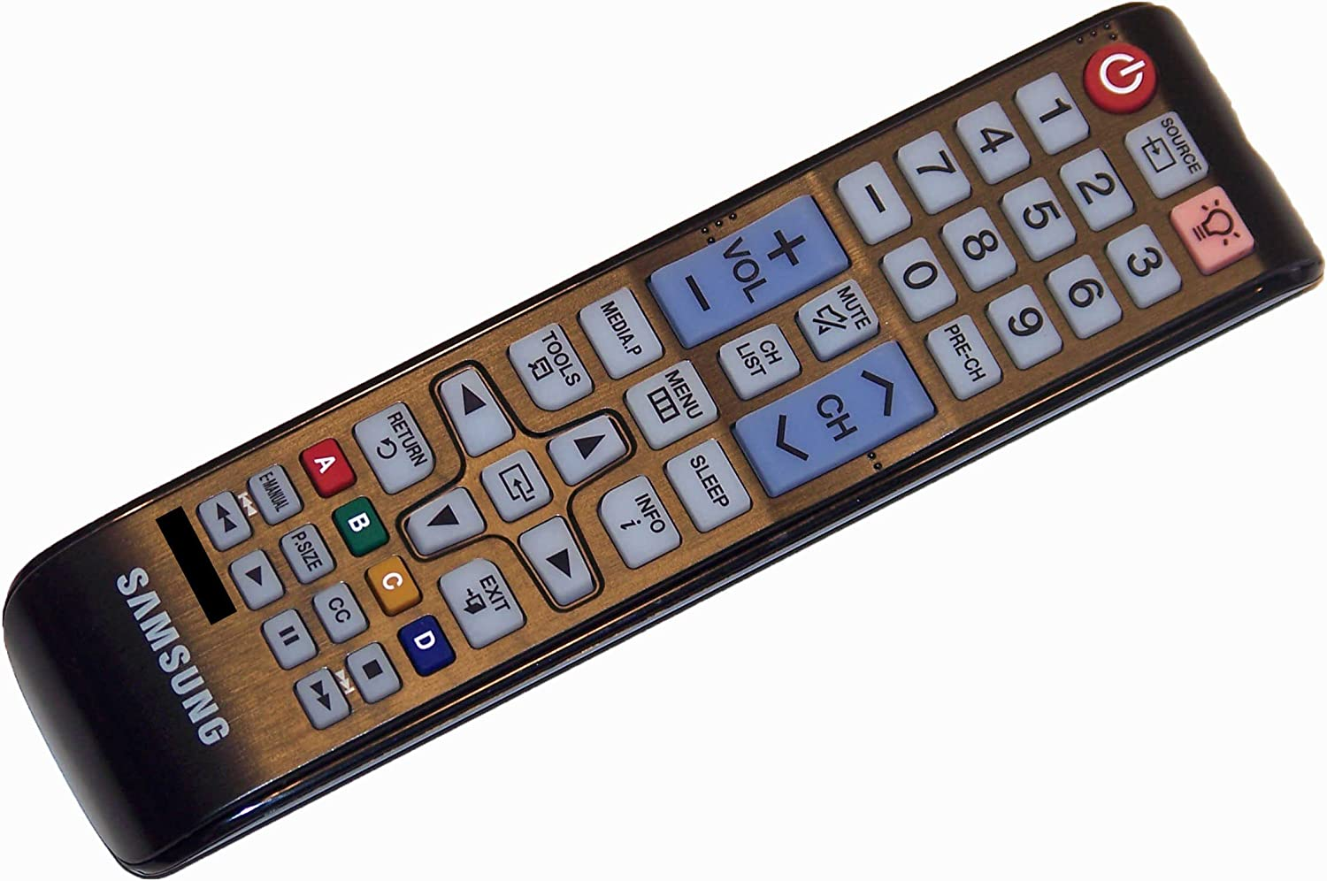 OEM Samsung Remote Control Originally Shipped with: T24D310NH, UN24H4000, UN24H4000AF, UN24H4000AFXZA, UN28H4000