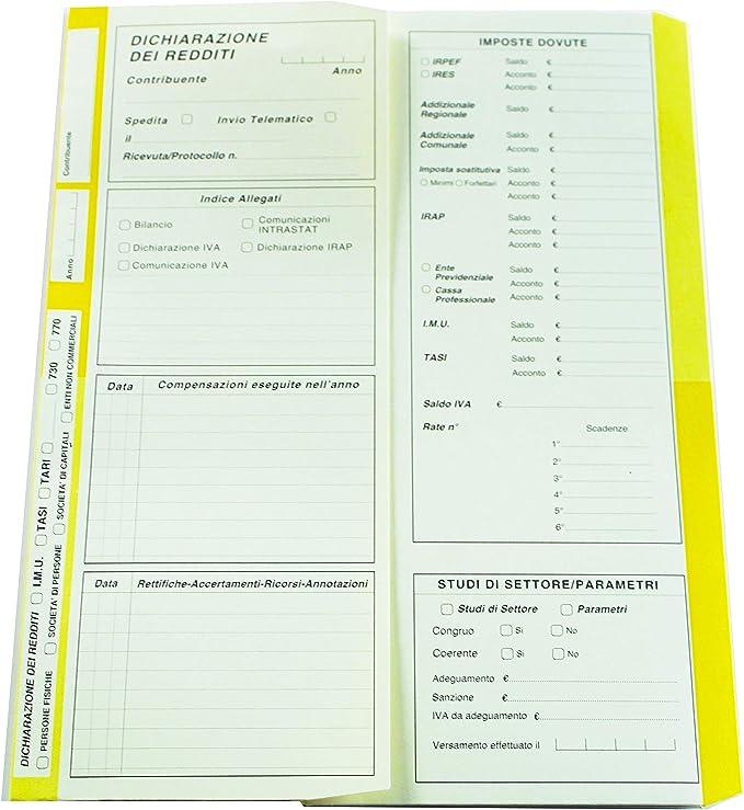 conf 50 pezzi 4company 4175 02 Cartellina Dichiarazione Redditi giallo