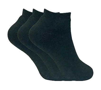 Sock Snob 3 pares mujer invierno termicos sneaker cortos calcetines (TTS Black, 37-