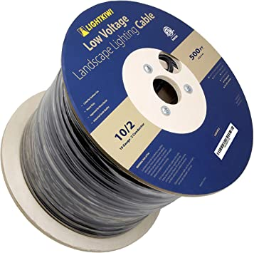 10-2 AGW 500 ft Low voltage landscape lighting wire cable direct burial made USA