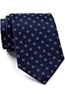 Tommy Hilfiger Men's Circle Dot Silk Tie, OS, Navy