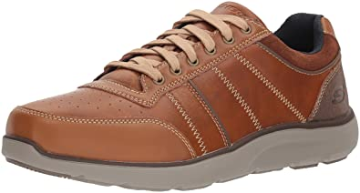 Skechers Montego-Barston, Baskets Homme, Marron (Luggage), 39.5 EU