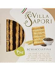 Villa Sapori - Schiacciatina Ecológica con Cereales y semillas de Chía, caja de 1,