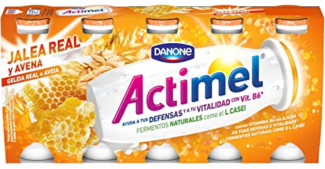 Actimel Jalea Real y Avena Yogur - Paquete de 5 x 100 gr - Total: 500 gr: Amazon.es: Alimentación y bebidas