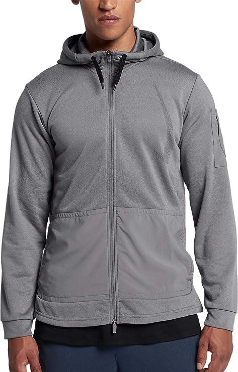 66c1ceccefade Nike Men's Project X Dry HD Full Zip Hoodie (Gunsmoke/Ridgerock/Black,