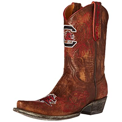Gameday Boots NCAA Ladies 10 inch University Boot South Carolina Fighting Gamecocks, 8 B (M) US, Brass: Sports & Outdoors