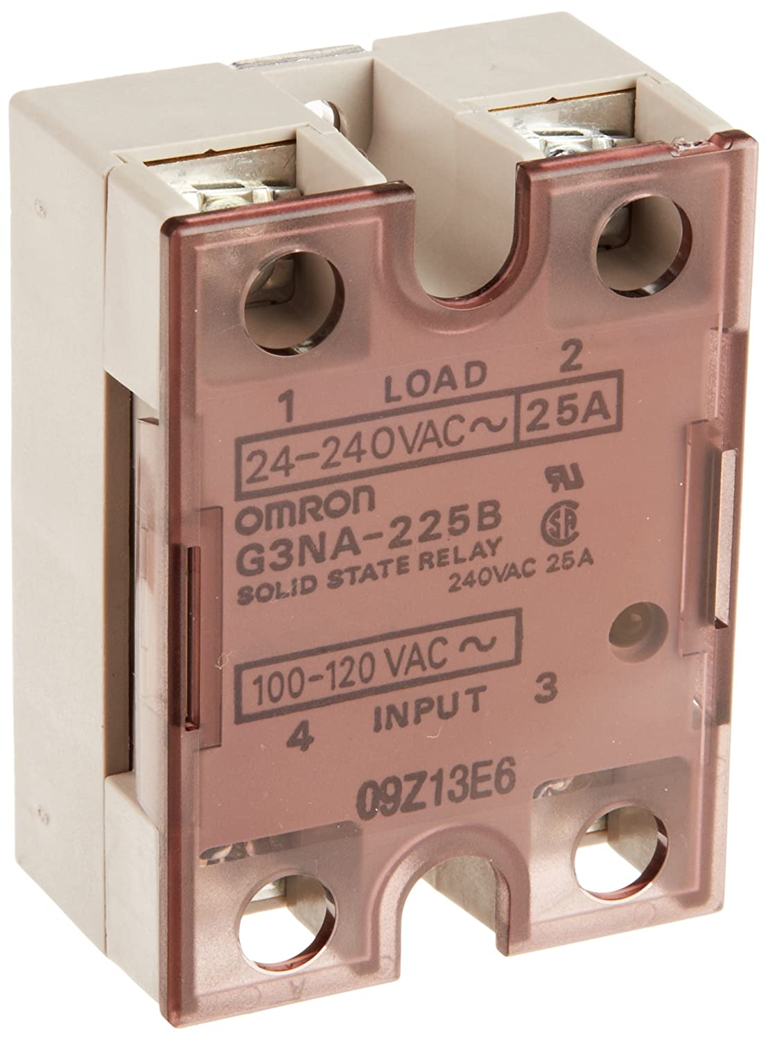 Omron G3NA-225B AC100-120 Solid State Relay, Zero Cross Function, Yellow  Indicator, Photocoupler Isolation, 25 A Rated Load Current, 24 to 240 VAC