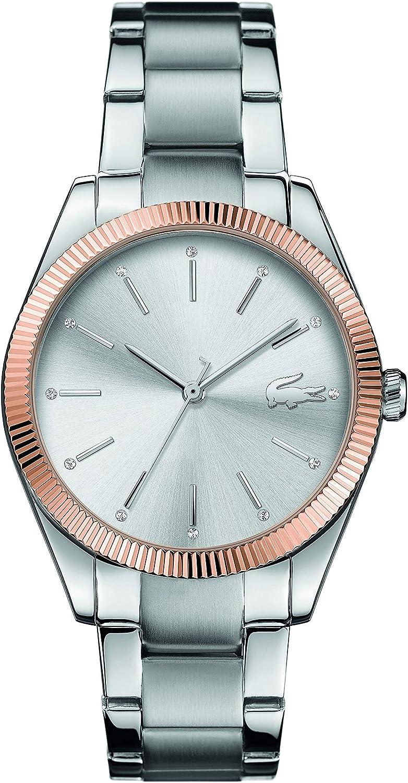 Lacoste Reloj Analógico para Mujer de Cuarzo con Correa en Acero Inoxidable 2001082