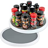 Homeries Lazy Susan Turntable (12 Inches) - Single Round Rotating Kitchen Spice Organizer for Cabinets, Pantry, Bathroom…