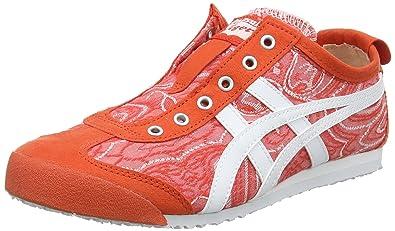 Asics Damen Onitsuka Tiger Mexico 66 Slip-on Sneaker, Rot (Cherry Tomato/White 0601), 41.5 EU