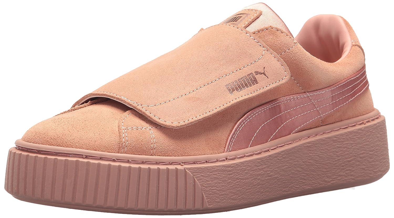 PUMA Women's Platform Strap Satin En Pointe Wn Sneaker B073WHQY91 9.5 B(M) US Peach Beige-peach Beige-rose Gold