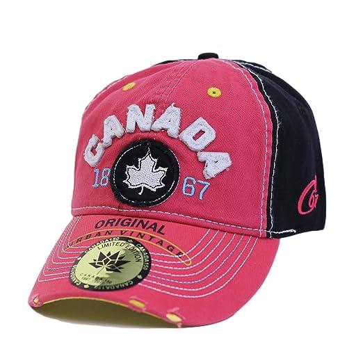 Amazon.com  True Canada Maple Leaf Baseball Cap Adjustable 1867 Hat ... 0c3da482015