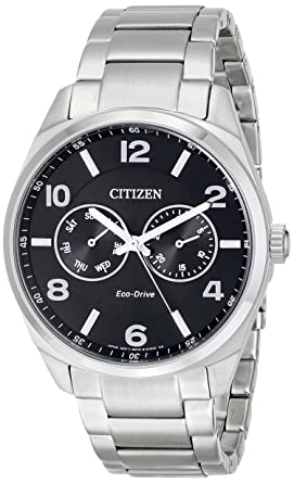 amazon com citizen men s eco drive stainless steel dress watch with