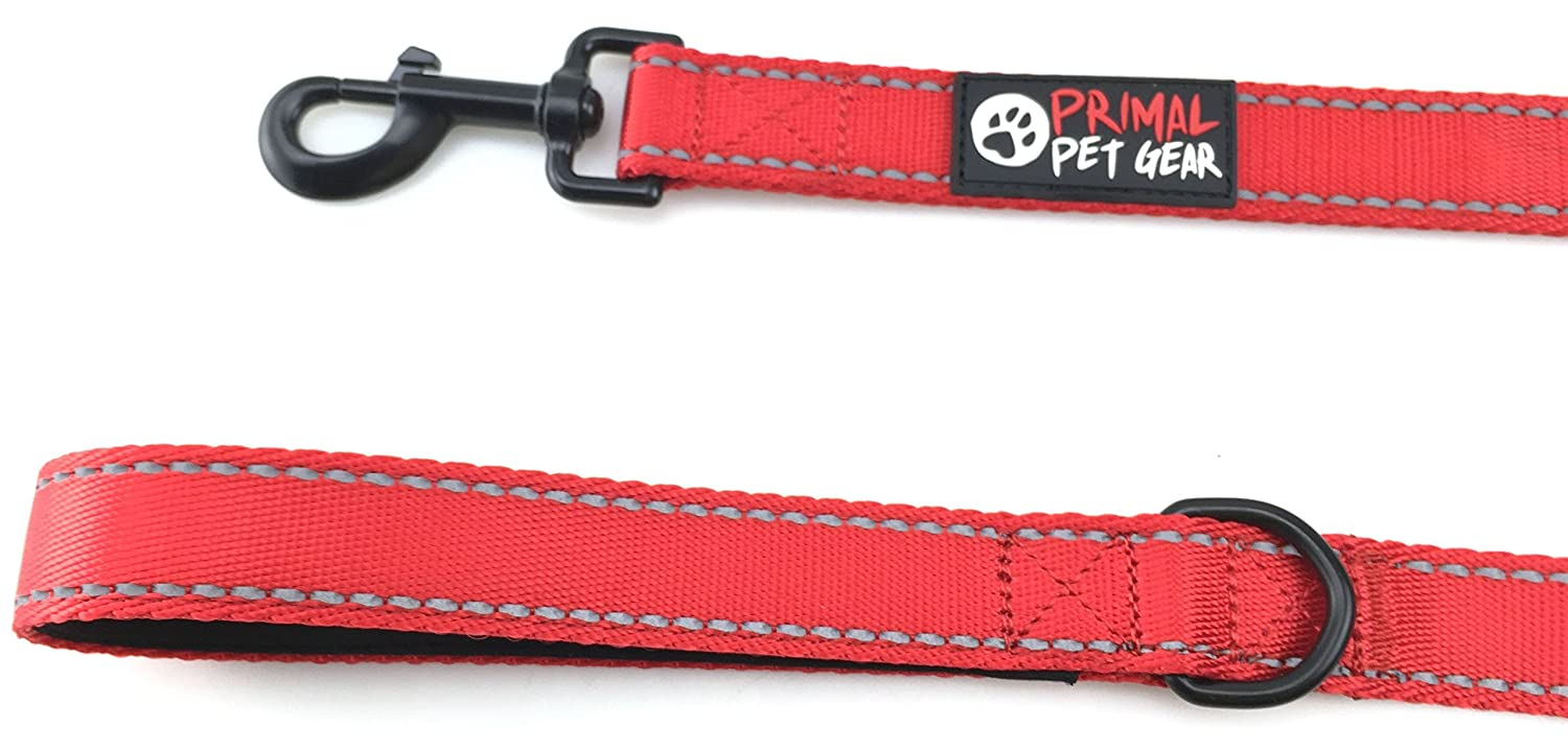 Heavy Duty Dual Handles Leads Double Handles Lead for Control Safety Training Leashes for Large Dogs or Medium Dogs Traffic Padded Two Handle Primal Pet Gear Dog Leash 8ft Long
