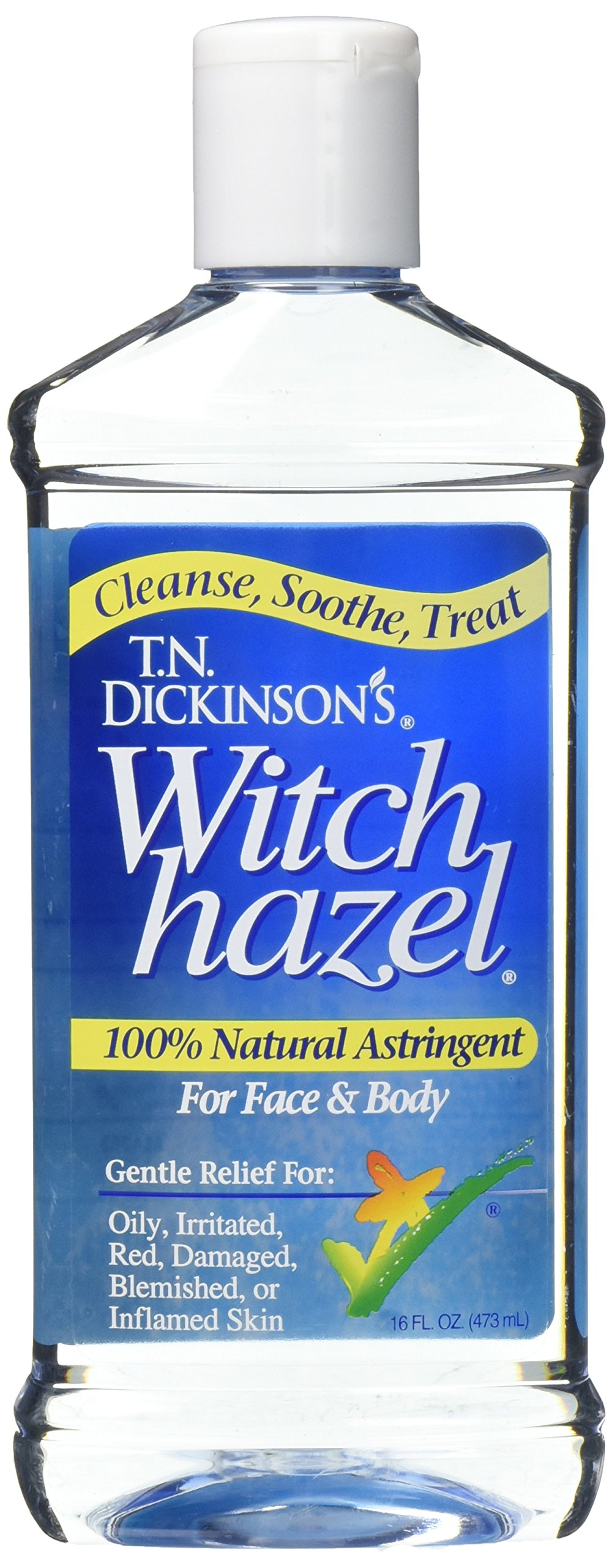 T.N. Dickinson's Astringent, 100% Natural, Witch Hazel 16 fl oz (473 ml) (2 Pack) by by Lotus