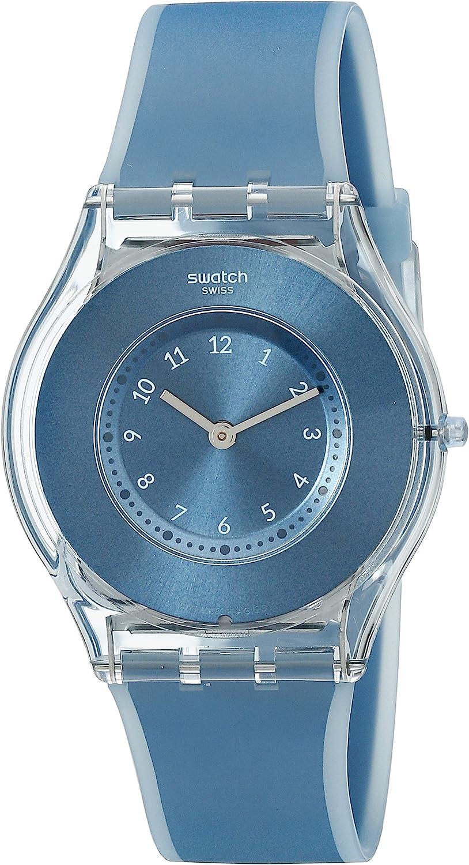 Swatch Reloj Digital de Cuarzo Unisex con Correa de Silicona – SFS103