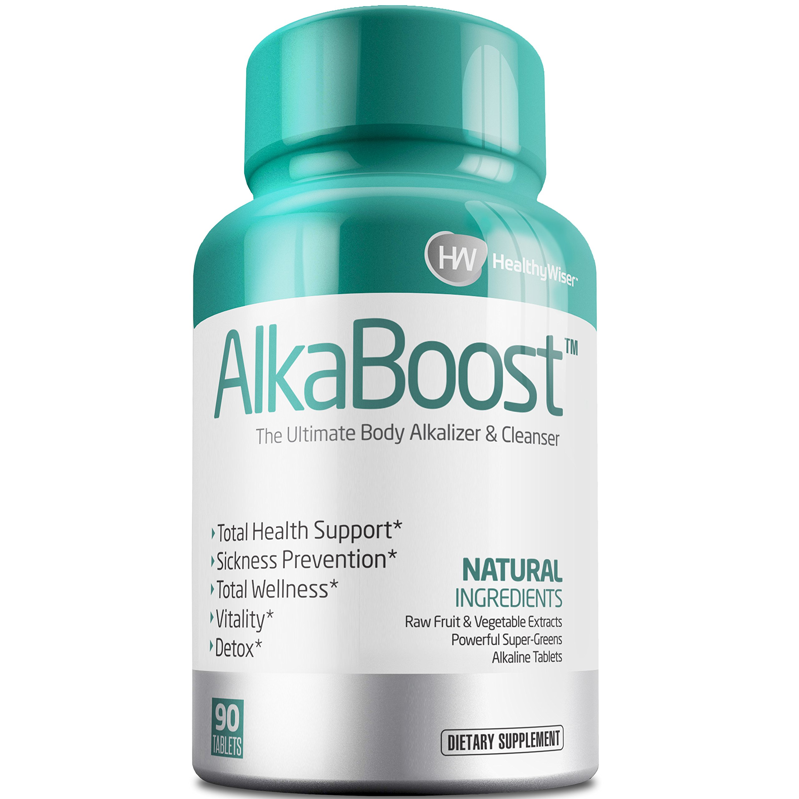 ALKA BOOST MultiVitamin For Healthy pH Balance, Alkaline Booster & Immune System Support. Natural Detox & Sickness Prevention - Promotes Energy Clarity and Focus - Green and Wholefood Blend, 90ct