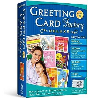 Amazon art explosion greeting card factory greeting card factory 80 deluxe old version m4hsunfo