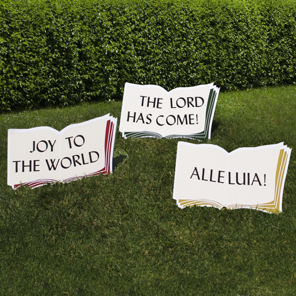 Outdoor Nativity Store Good Words Yard Sign Set