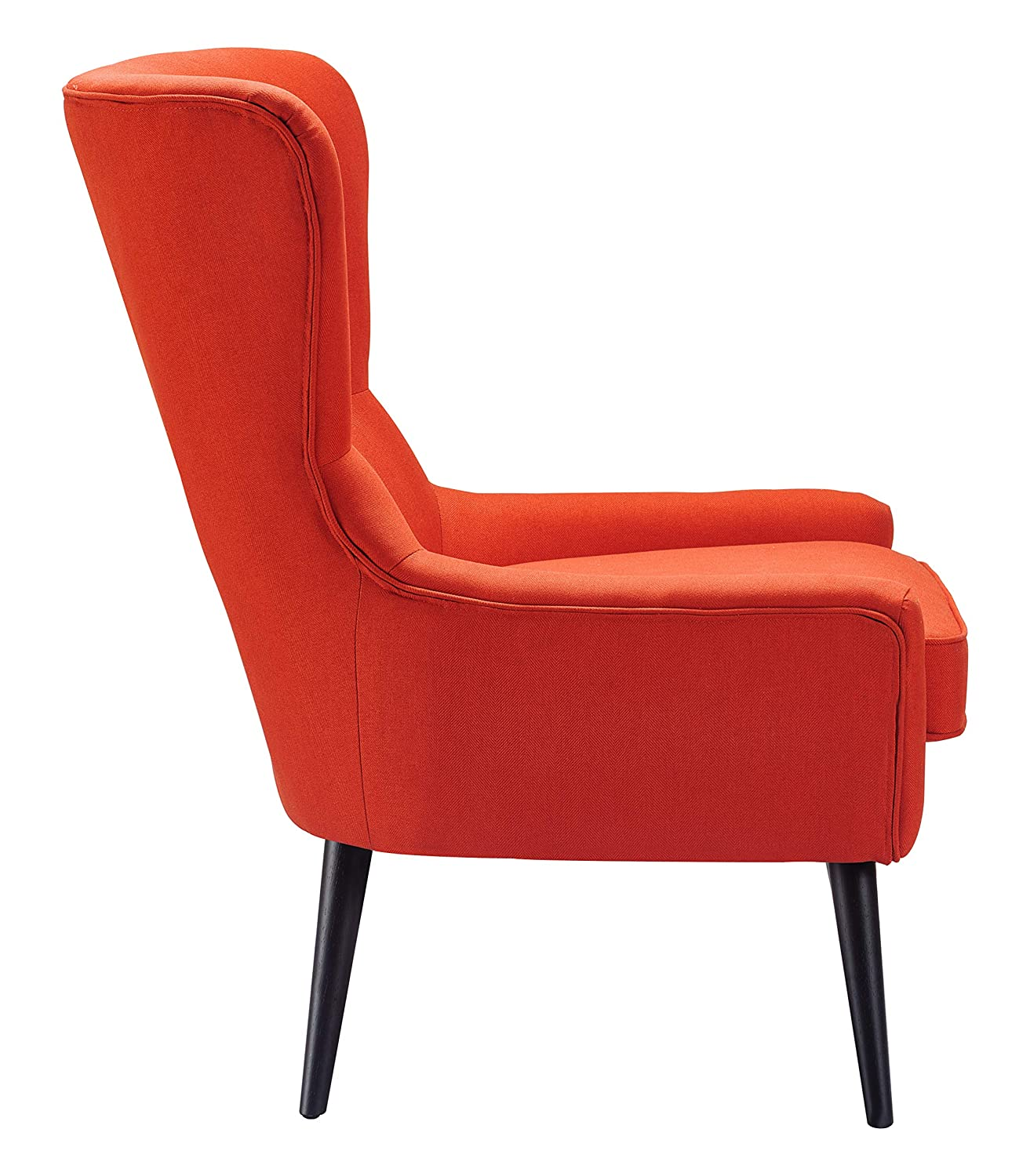 Fantastic Finch Uph10058E Auburn Wingback Chair Orange Gmtry Best Dining Table And Chair Ideas Images Gmtryco