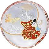 アデリア ガラス 豆皿 めで鯛 直径9×高1.8cm めでたmono  日本製 6068