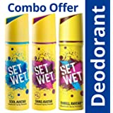 Set Wet Cool, Swag and Thrill Avatar Deodorant Spray Perfume, 150ml (Pack of 3)