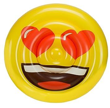 Emoji Colchoneta Hinchable Cara Corazones (Saica 5886): Amazon.es: Juguetes y juegos