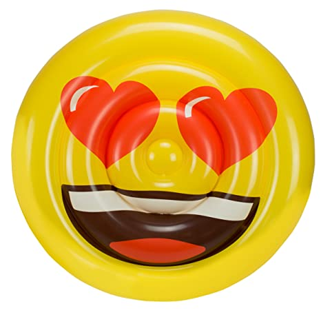 Amazon.com: emoji 5886 Heart Face Bed Float Toy: Toys & Games