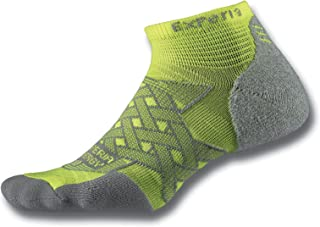product image for Thorlos Experia Thorlo Energy Compression Running Low Cut Socks Sockshosiery, Electric Yellow, Extra Small