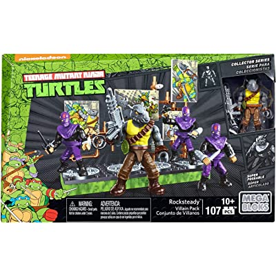 Mega Construx Teenage Mutant Ninja Turtles Collectors Rocksteady Villain Pack: Toys & Games