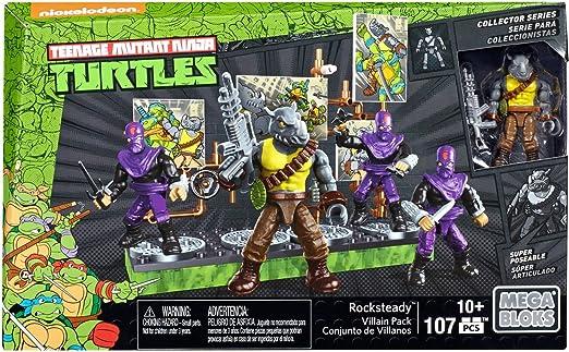 Mega Construx Teenage Mutant Ninja Turtles Collectors Rocksteady Villain Pack